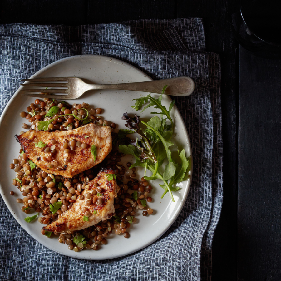 Garam Masala Chicken With Lentils Recipe From TruRoots Using Organic Sprouted Lentil Blend