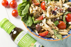 Gluten Free Italian Pasta Salad With Feta Primal Kitchen Recipe Using Italian Dressing