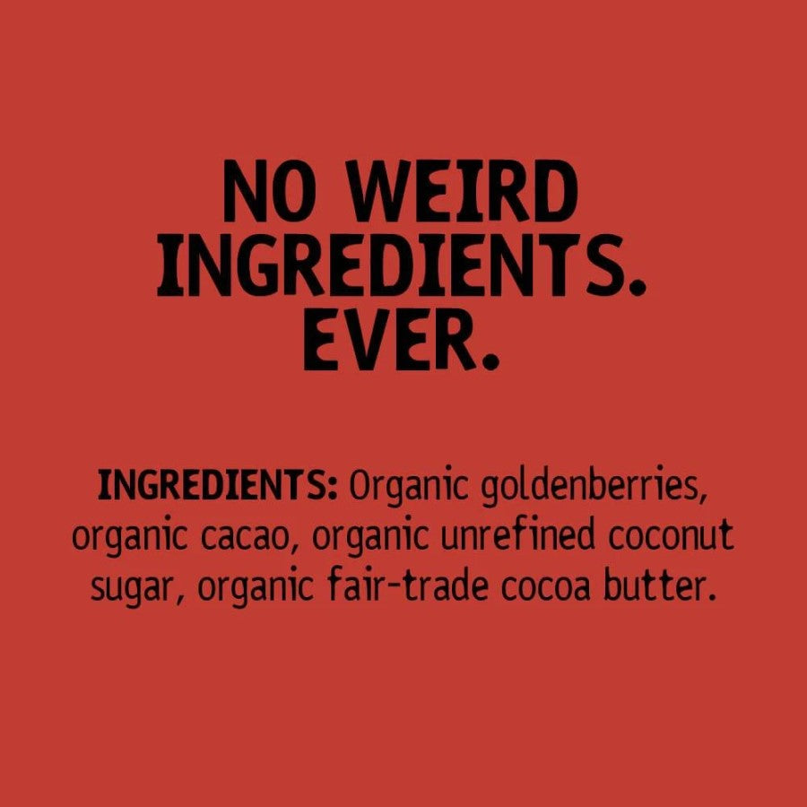 No Weird Ingredients Ever In Hu Chocolate Covered Sour Goldenberries Ingredient List