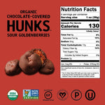 Load image into Gallery viewer, Hu Organic Chocolate Covered Sour Goldenberries Nutrition Facts