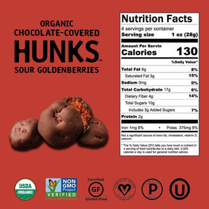 Hu Organic Chocolate Covered Sour Goldenberries Nutrition Facts