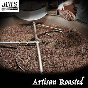 Jim's Organic Italian Roast Whole Bean Coffee Is Artisan Roasted