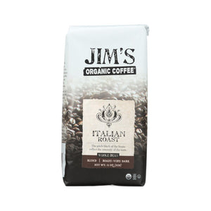 Jim's Organic Coffee Italian Roast Whole Bean 11oz