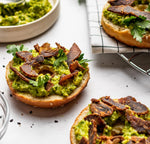 Load image into Gallery viewer, Kalahari Spicy Peri Peri Pepper Beef Biltong Jerky Meat Topping An Avocado Bagel
