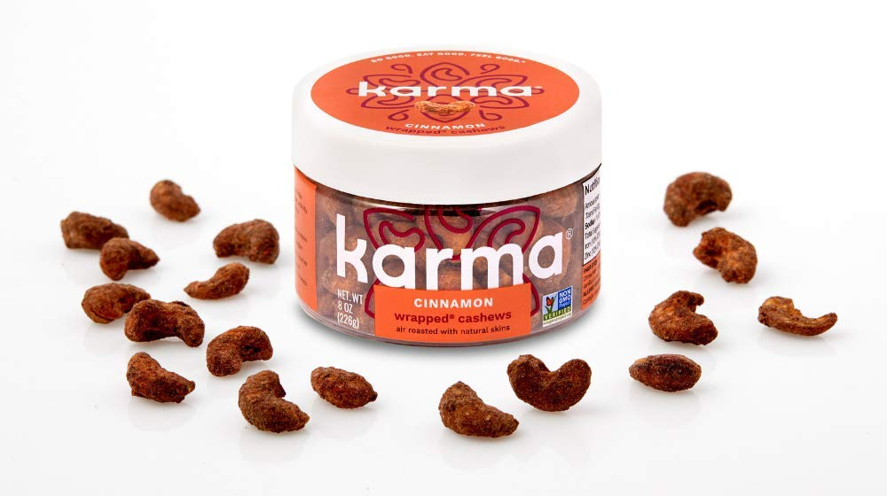 Karma Cinnamon Wrapped Cashews 8oz With Nuts