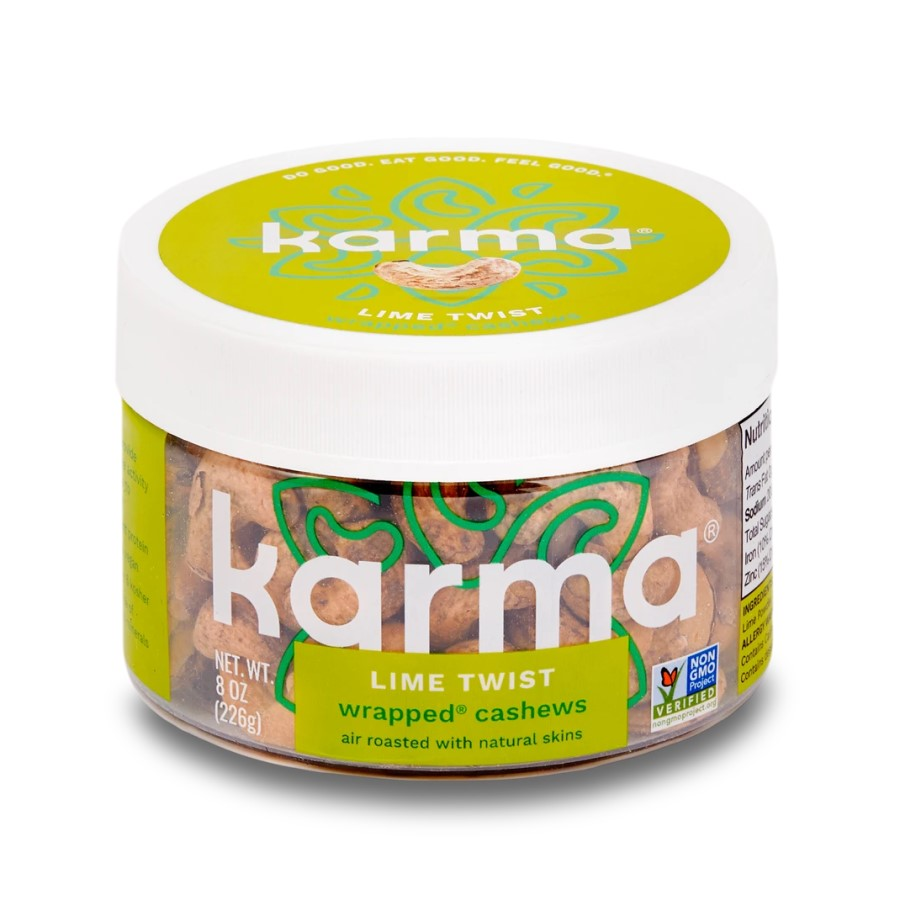 Karma Nuts Lime Twist Wrapped Cashews