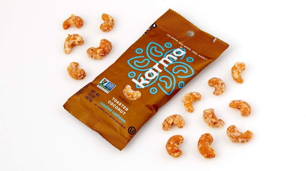 Karma Toasted Coconut Roasted Cashews Snack Pack With Nuts