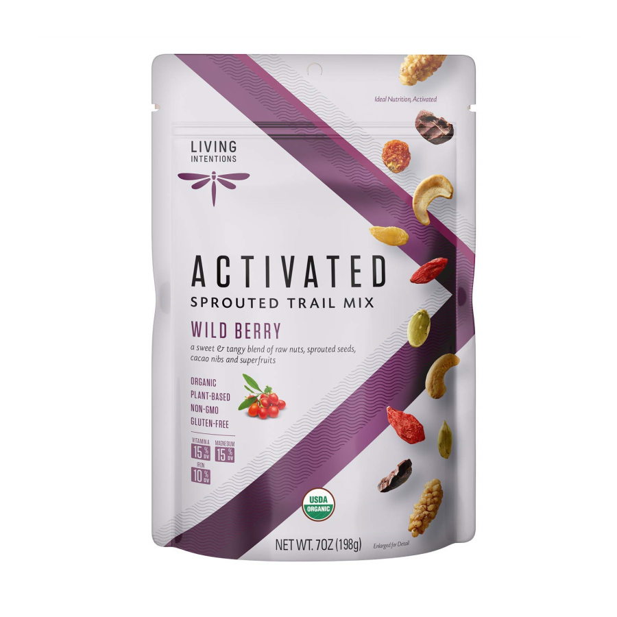 Living Intentions Activated Sprouted Trail Mix Wild Berry 7oz