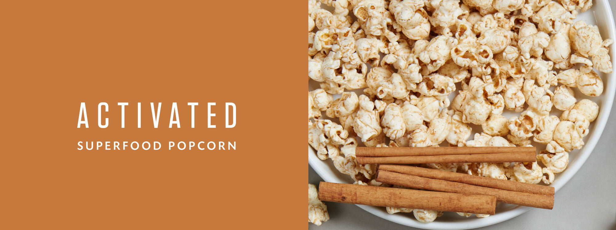 Activated Superfood Popcorn Cinnamon Twist Snack Food