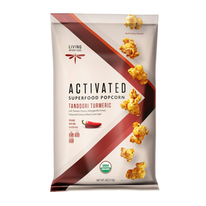 Living Intentions Activated Superfood Popcorn Tandoori Turmeric 4oz