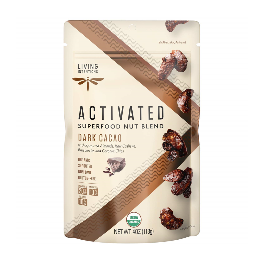 Living Intentions Activated Superfood Nut Blend Dark Cacao 4oz