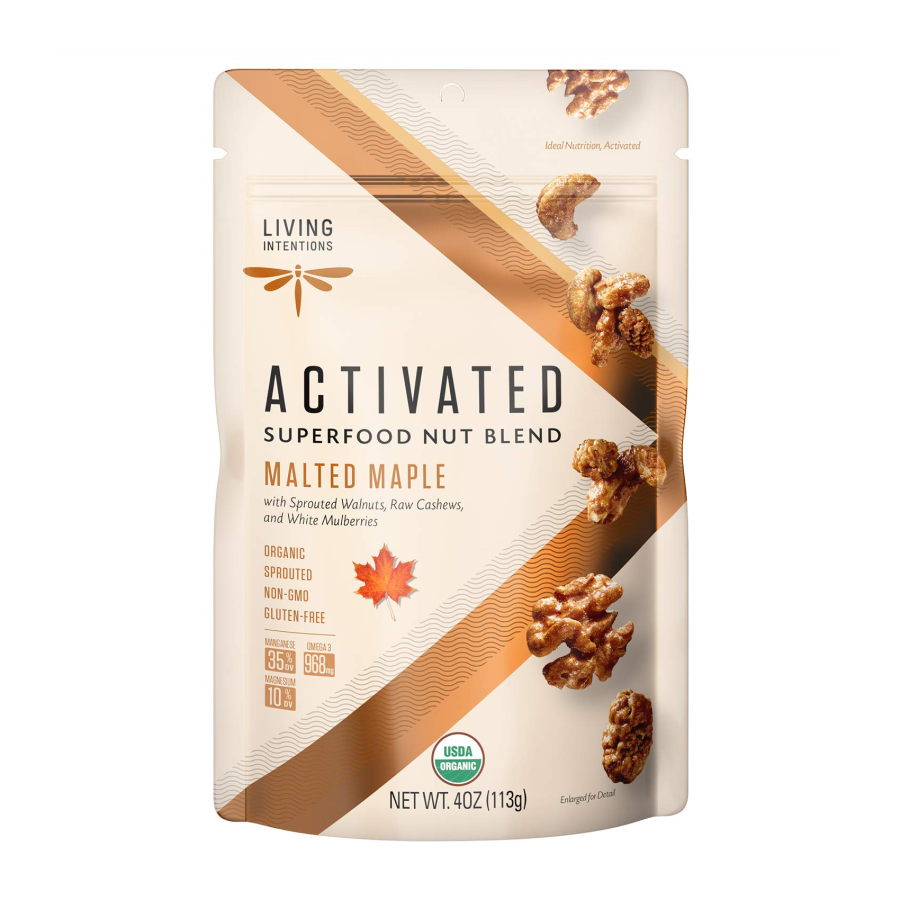 Living Intentions Activated Superfood Nut Blend Malted Maple 4oz