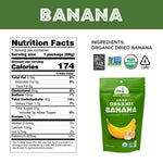 Load image into Gallery viewer, Organic Banana Mavuno Harvest Dried Fruit Nutrition Facts And Ingredients