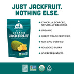 Load image into Gallery viewer, Just Jackfruit Nothing Else No Added Sugar Snack Mavuno Harvest Infographic Organic Non-GMO