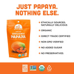 Load image into Gallery viewer, Just Papaya Nothing Else Fruit Snack Mavuno Harvest Infographic Organic Non-GMO