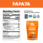 Load image into Gallery viewer, Organic Papaya Mavuno Harvest Dried Fruit Nutrition Facts And Ingredients