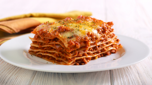 Meat Sauce Layered Lasagna Gluten Free Meal Using Organic Red Heirloom Tomato Pasta Sauce From Terra Powders