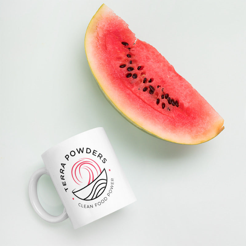 11oz Terra Powders Dragon Berry Mug With Watermelon Slice