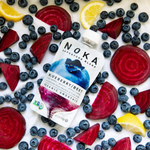 Load image into Gallery viewer, Fresh Organic Blueberries Beets Lemon Noka Superfood Blend Smoothie Pouch
