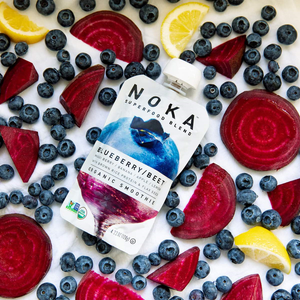 Fresh Organic Blueberries Beets Lemon Noka Superfood Blend Smoothie Pouch