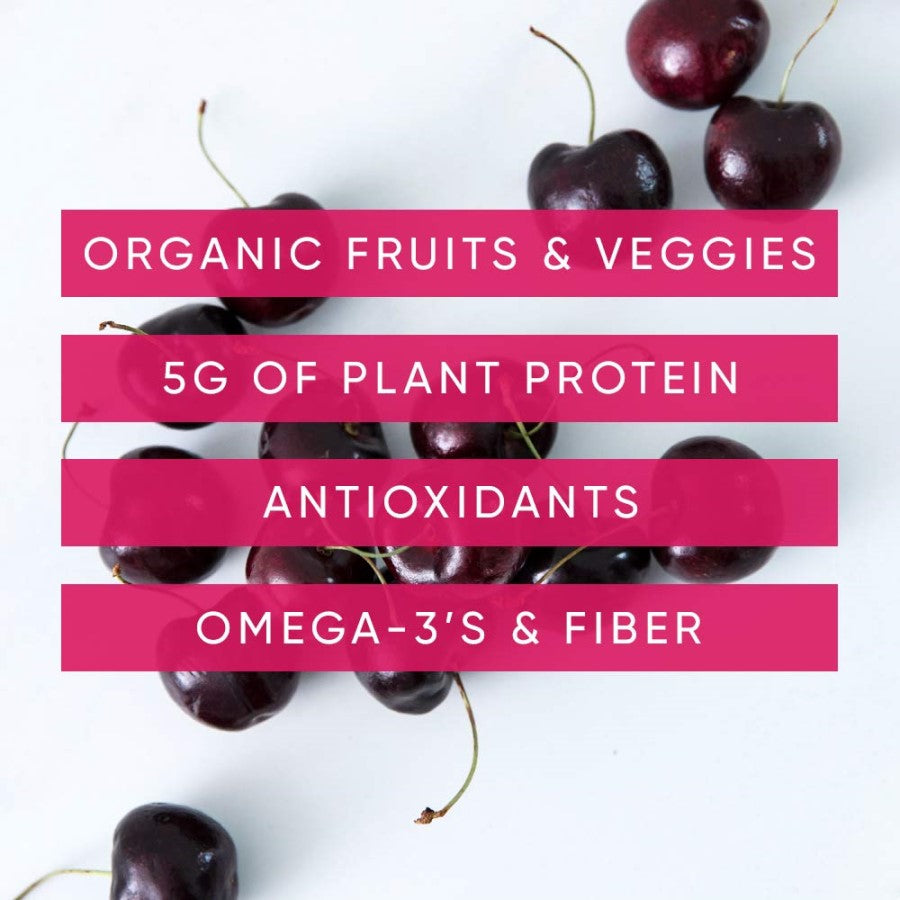 NOKA Cherry And Acai Berry Smoothies Contain Organic Fruits Veggies Plant Protein Antioxidants Omega 3's Fiber