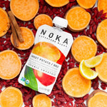Load image into Gallery viewer, Fresh Organic Sweet Potato Goji Berries Lemon Cinnamon Noka Superfood Blend Smoothie Pouch
