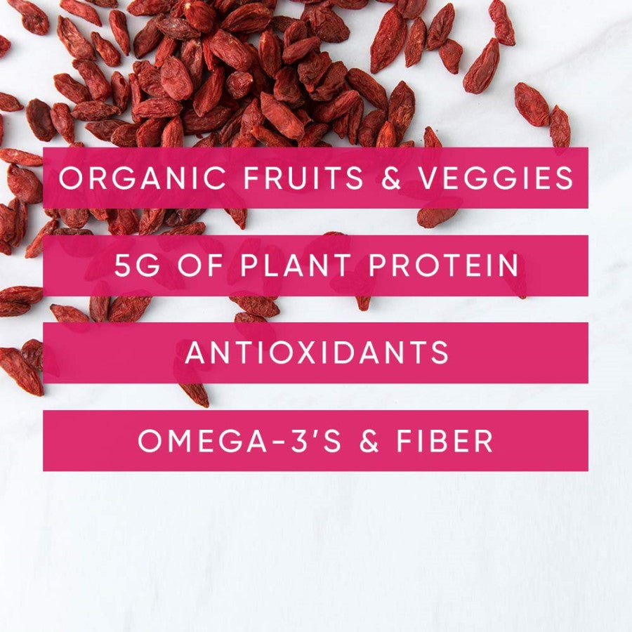 NOKA Sweet Potato And Goji Berry Smoothies Contain Organic Fruits Veggies Plant Protein Antioxidants Omega 3's Fiber