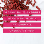 Load image into Gallery viewer, NOKA Sweet Potato And Goji Berry Smoothies Contain Organic Fruits Veggies Plant Protein Antioxidants Omega 3's Fiber