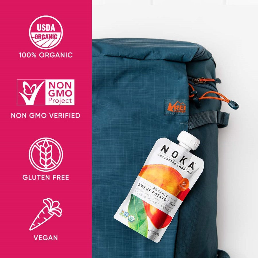 NOKA Sweet Potato Goji Superfood Smoothies Are 100 Percent Organic Non GMO Verified Gluten Free Vegan