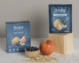 Amara Organic Baby Food With Oats Blueberries And Apple
