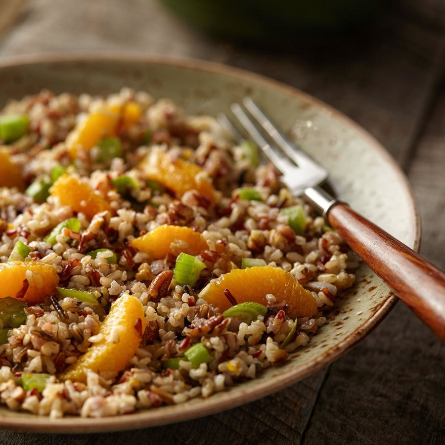 Orange Pecan Grain Salad Made With Gluten Free TruRoots Quinoa And Rice Medley