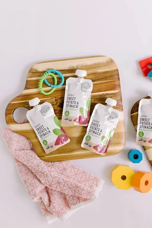 Keto Friendly Sweet Potato & Spinach Organic Baby Food Pouches