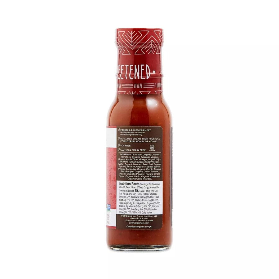 Primal Kitchen Organic Classic Barbecue Sauce Ingredients Nutrition Facts Primal And Paleo Friendly Unsweetened Soy Free Gluten And Grain Free