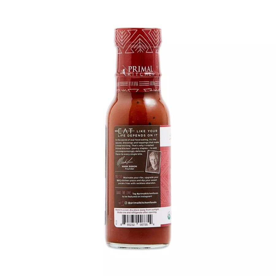 Mark Sisson Primal Kitchen Eat Like Your Life Depends On It Organic BBQ Sauce Unsweetened Classic