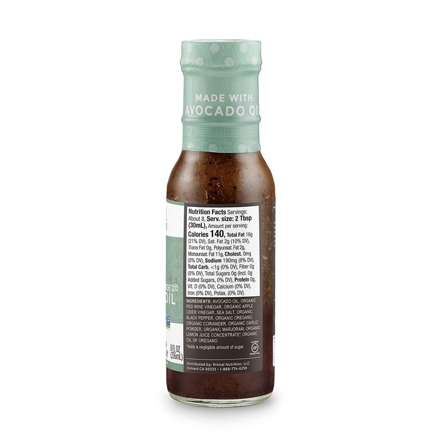 Primal Kitchen Greek Dressing Ingredients Nutrition Facts