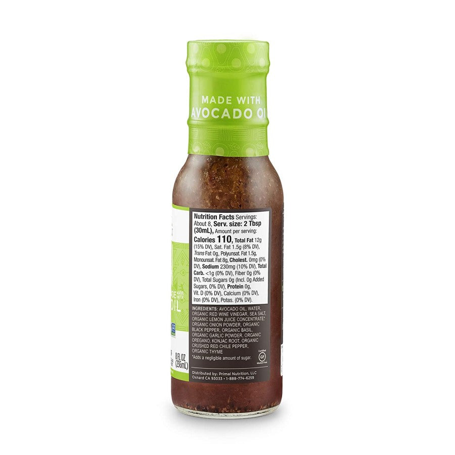 Primal Kitchen Italian Dressing Ingredients Nutrition Facts