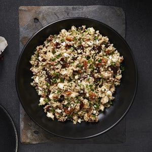Organic Quinoa Cherry And Feta Salad With TruRoots Quinoa