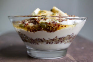 Bare Bones Healthy Recipe Quinoa Power Parfait With Lemon Rosemary Bone Broth
