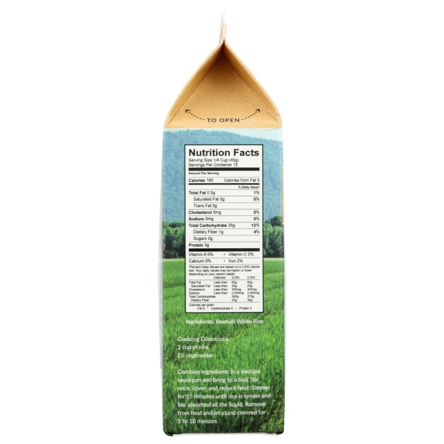 Ralston Family Farms Basmati Rice Nutrition Facts