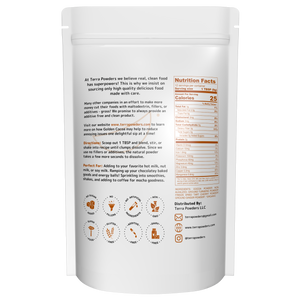 Terra Powders Turmeric Hot Chocolate Golden Cocoa Powder Ingredients And Nutritional Facts
