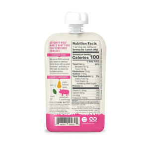 Back Of Serenity Kids No Added Hormones Or Antibiotics Bacon Baby Food Pouch Nutrition Facts