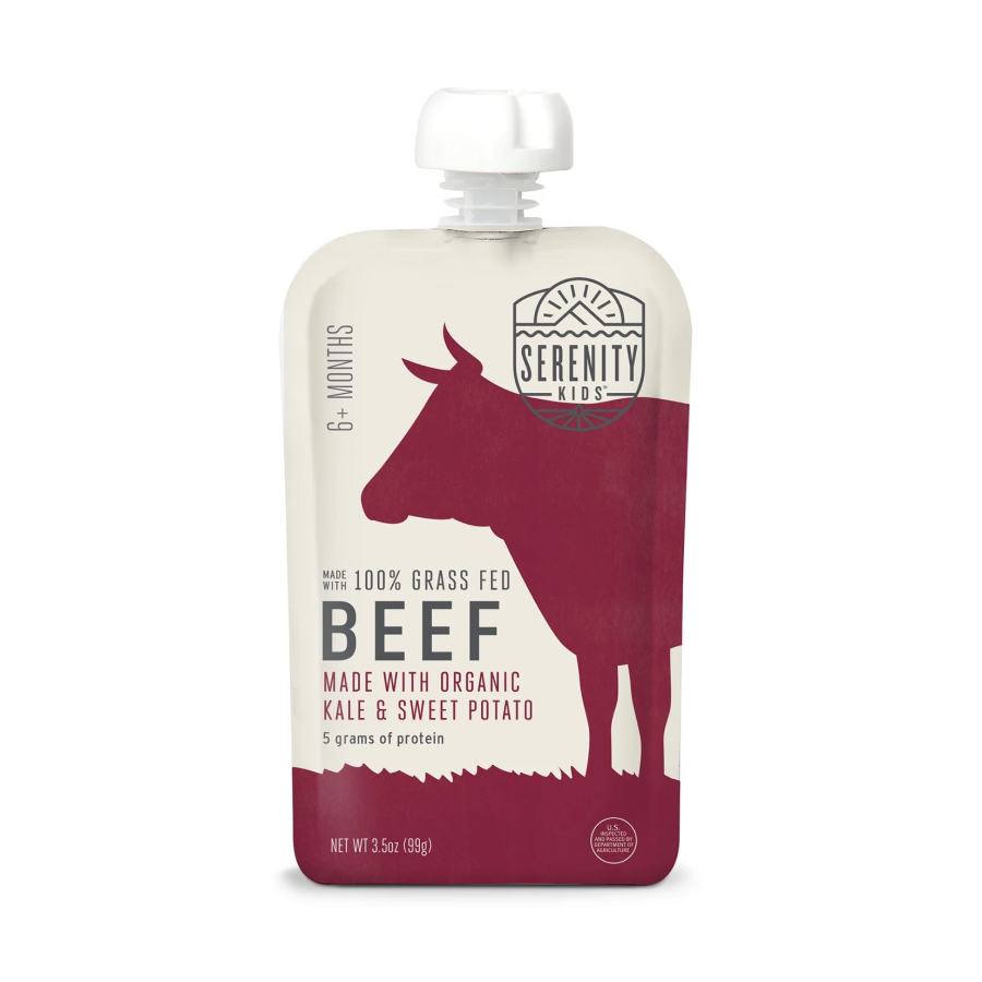 Serenity Kids Beef With Organic Kale & Sweet Potato 3.5oz