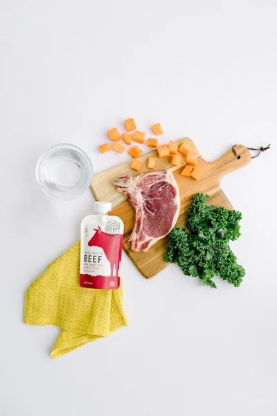 Real Food Wholesome Ingredients In Beef Serenity Kids Food Beef Meat Kale Sweet Potato