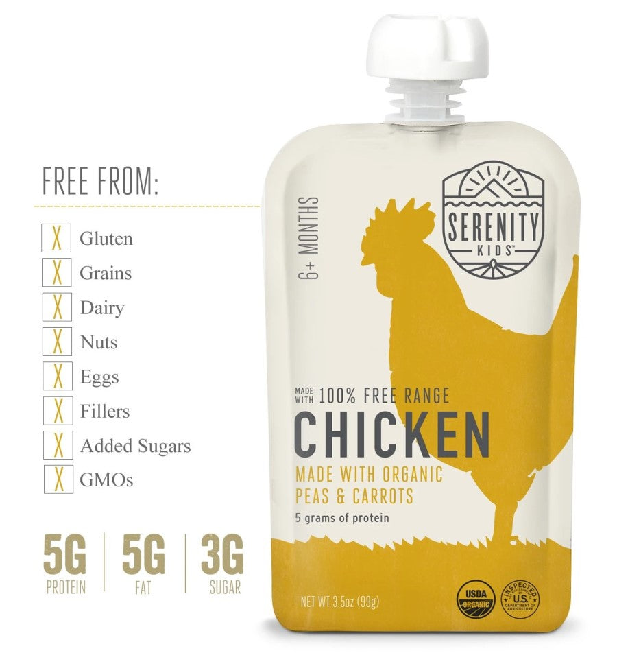 Serenity Kids Free Range Chicken Baby Food Is Free From Gluten Dairy Fillers Added Sugars GMOs