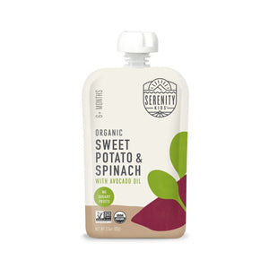 Serenity Kids Organic Sweet Potato & Spinach 3.5oz