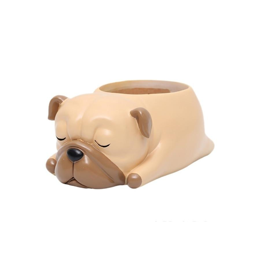 Terra Powders Adorable Animals Mini Planter Pot Sleeping Pug