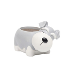 Load image into Gallery viewer, Terra Powders Adorable Animals Mini Planter Pot Snoozing Schnauzer