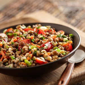 Southwestern Sprouted Lentil Salad With TruRoots Green Lentils