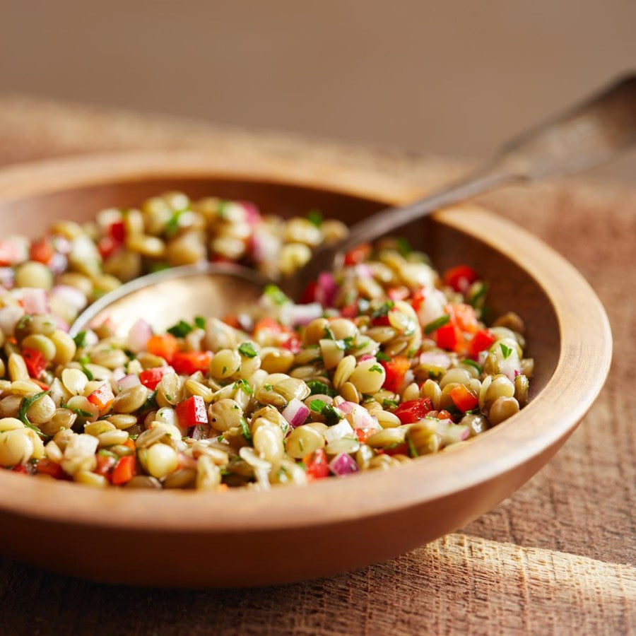 Healthy Sprouted Green Lentil Provencal Salad Made With Organic Lentils From TruRoots