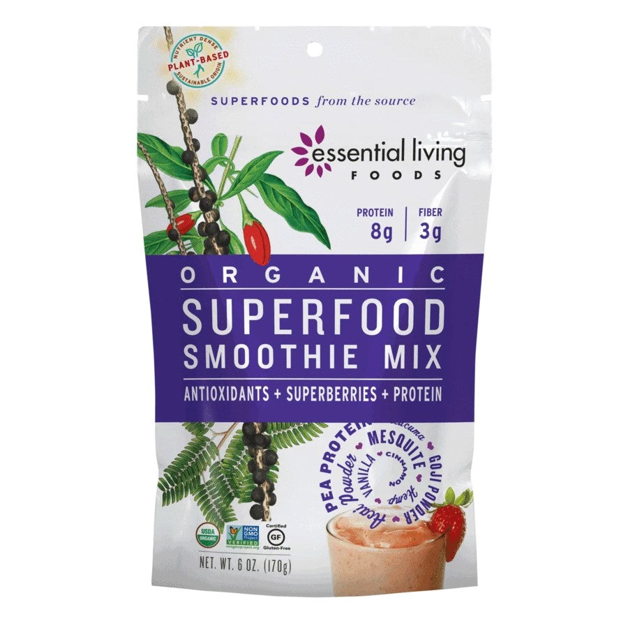 Essential Living Foods Organic Superfood Smoothie Mix 6oz